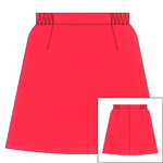 *Microfibre Plain Paneled Netball Skirt